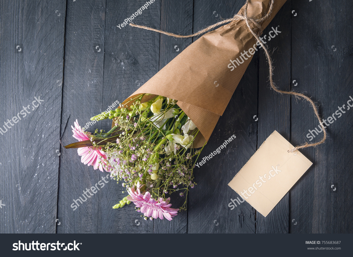 Gifting Theme Image Lovely Bouquet Flowers Stock Photo Royalty Free