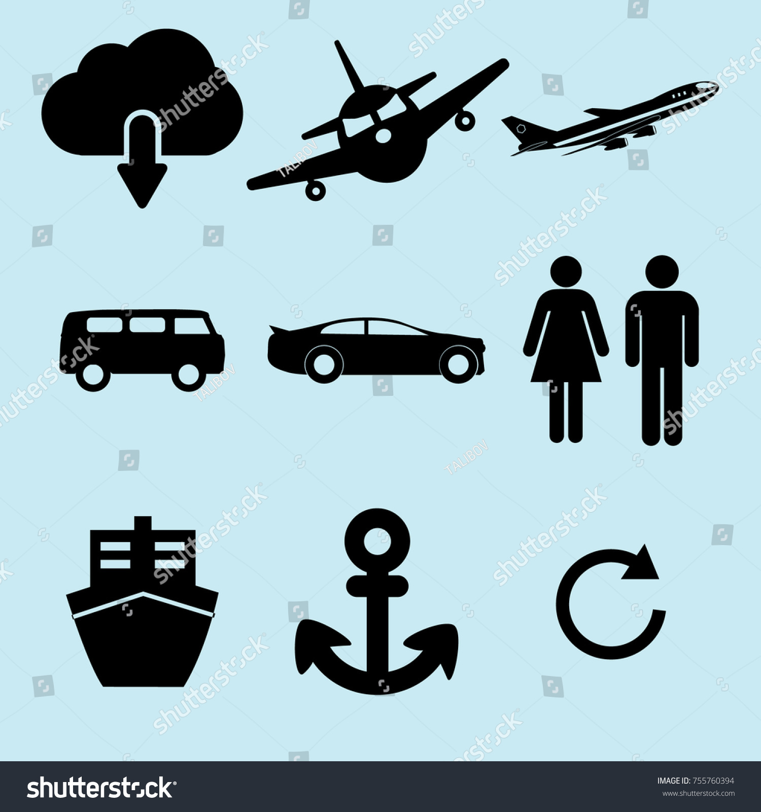 Loading car bus plain icon vector stock vector 755760394 loading car bus plain icon vector voltagebd Choice Image