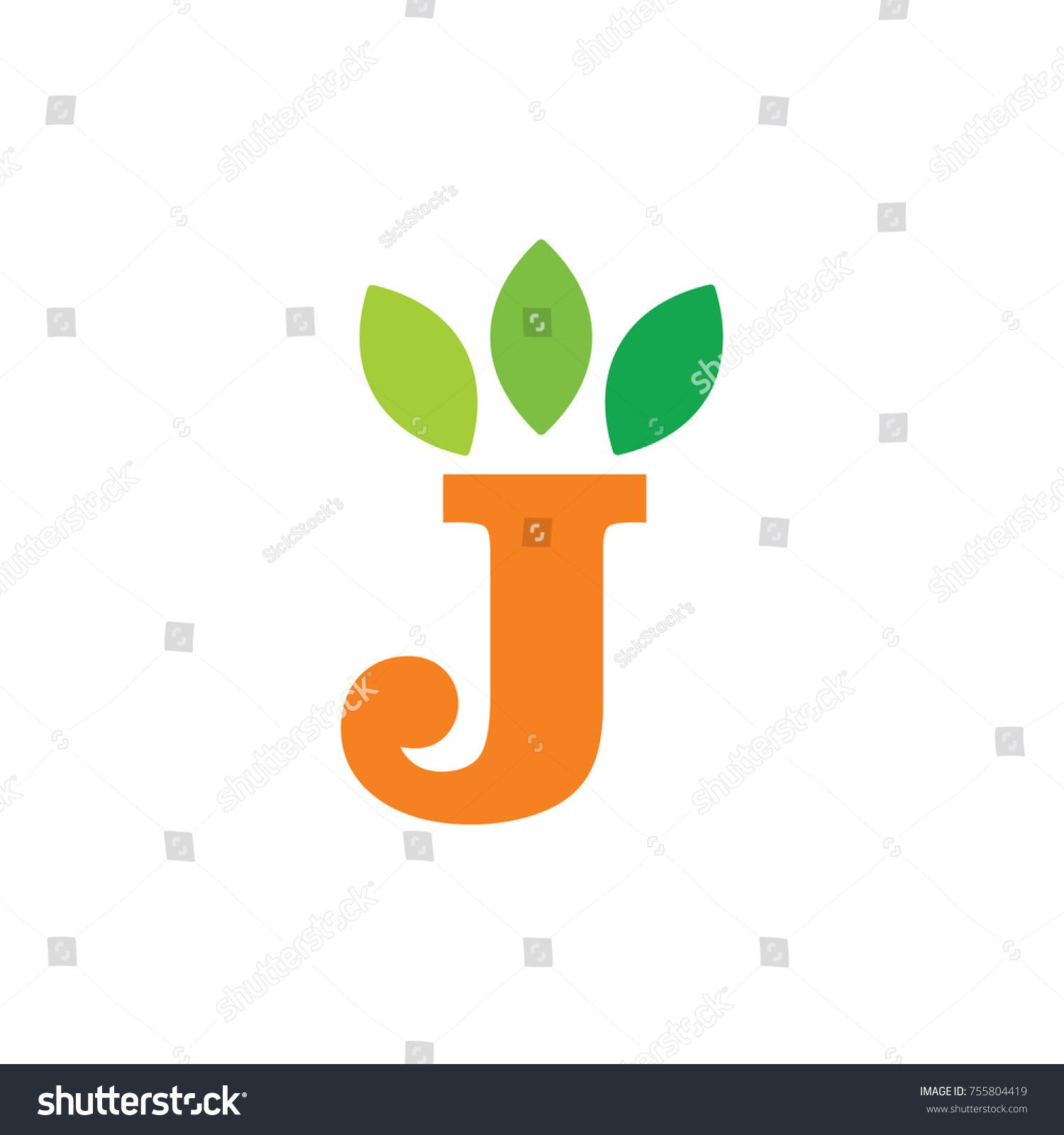 Letter j leaves symbol logo vector stock vector 755804419 shutterstock letter j with leaves symbol logo vector biocorpaavc Gallery