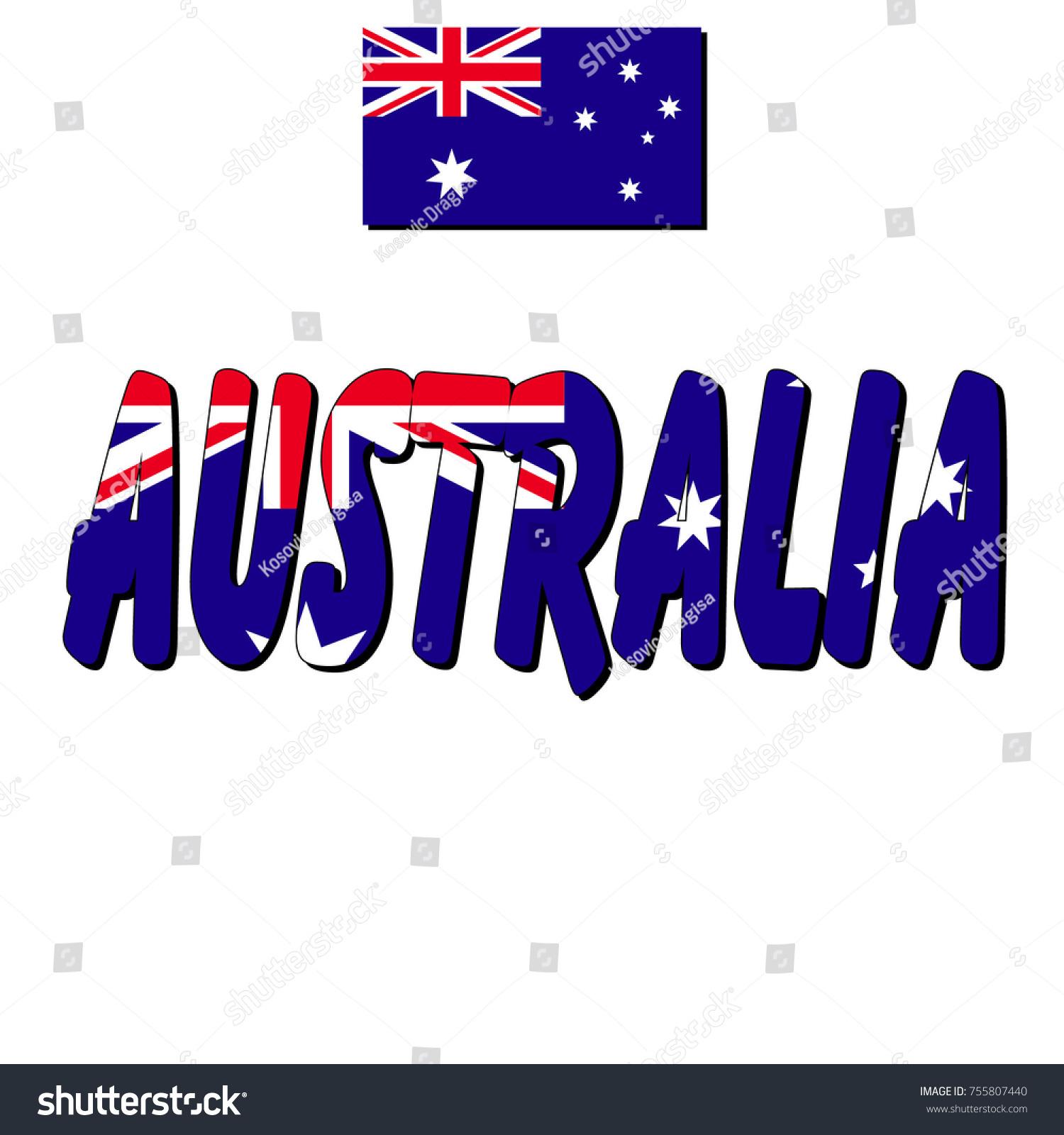 Flag Australia Name State Flag Stock-Vektorgrafik (Lizenzfrei ...