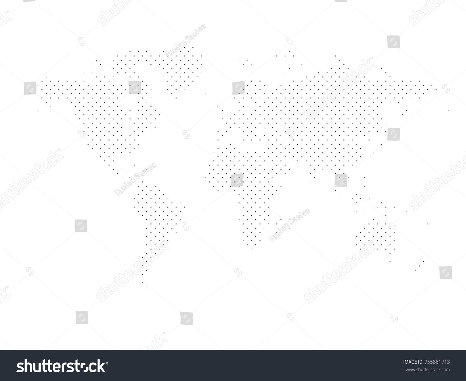 World map dots elements separated abstract stock vector 755861713 world map dotsl elements are separated abstract linear polygonal background vector illustration eps gumiabroncs Images