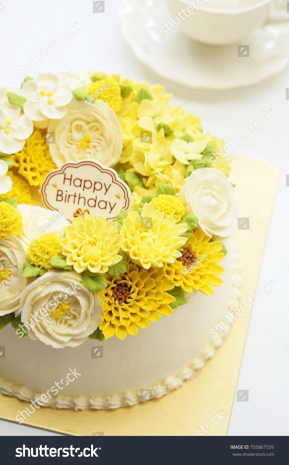Birthday Princess Cake Flowers Afternoon Tea Stock Photo Edit Now