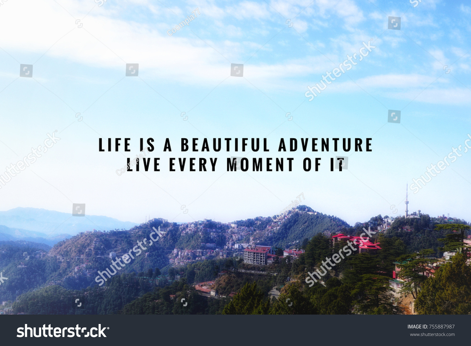 Motivational Inspirational Quotes About Life Motivational Inspirational Quotes Life Beautiful Adventure Stock