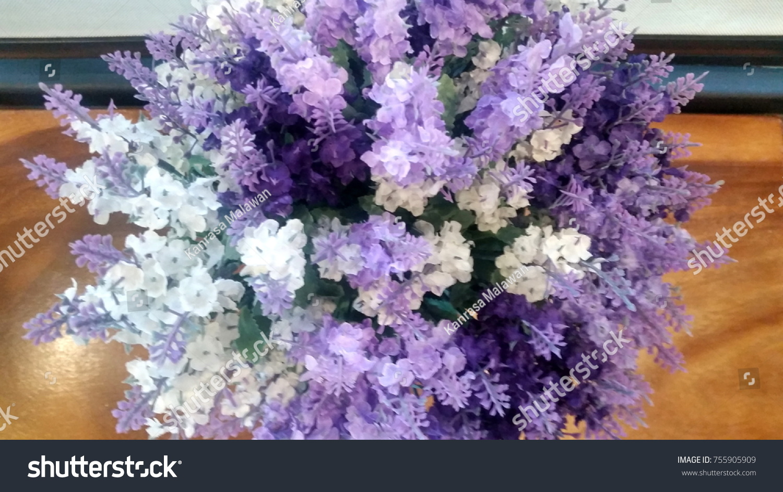 Small Purple White Flowers Stock Photo Royalty Free 755905909