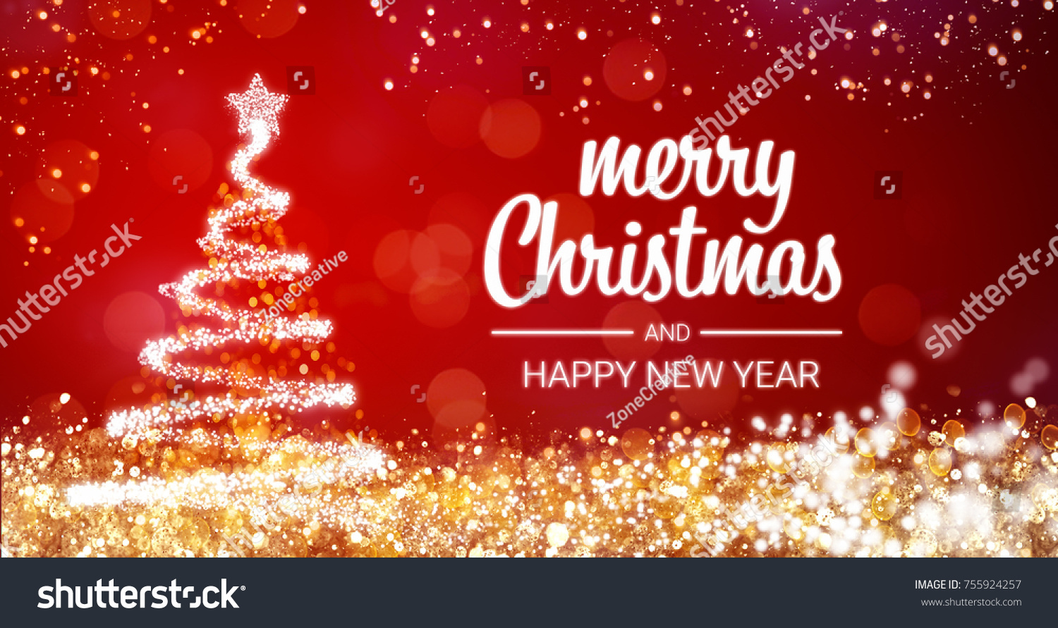 Happy new year greetings messages reception invitation wording holiday and new year greetings messages personalized business stock photo sparkling gold and silver lights xmas tree merry christmas and happy new year kristyandbryce Images