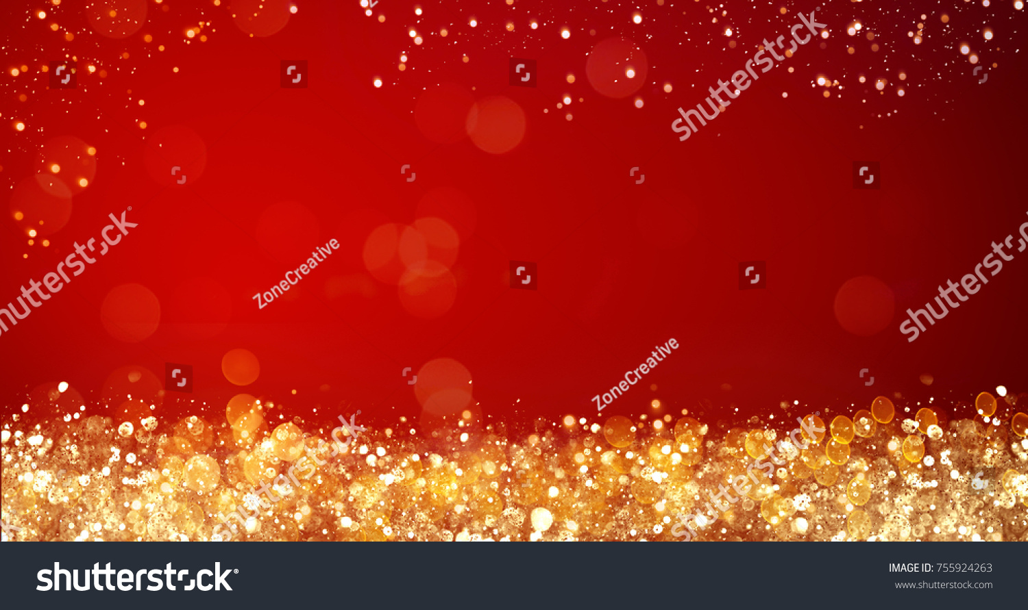 Golden silver xmas lights on red stock photo 755924263 shutterstock golden and silver xmas lights on red background for merry christmas or season greetings message kristyandbryce Gallery
