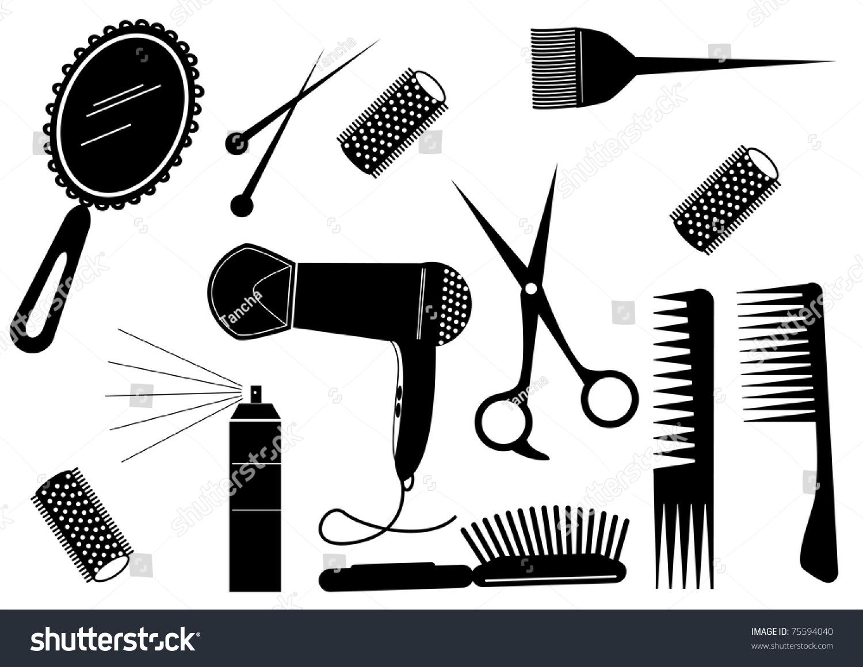 Hair Style Beauty Elementvector Salon Stock Vector