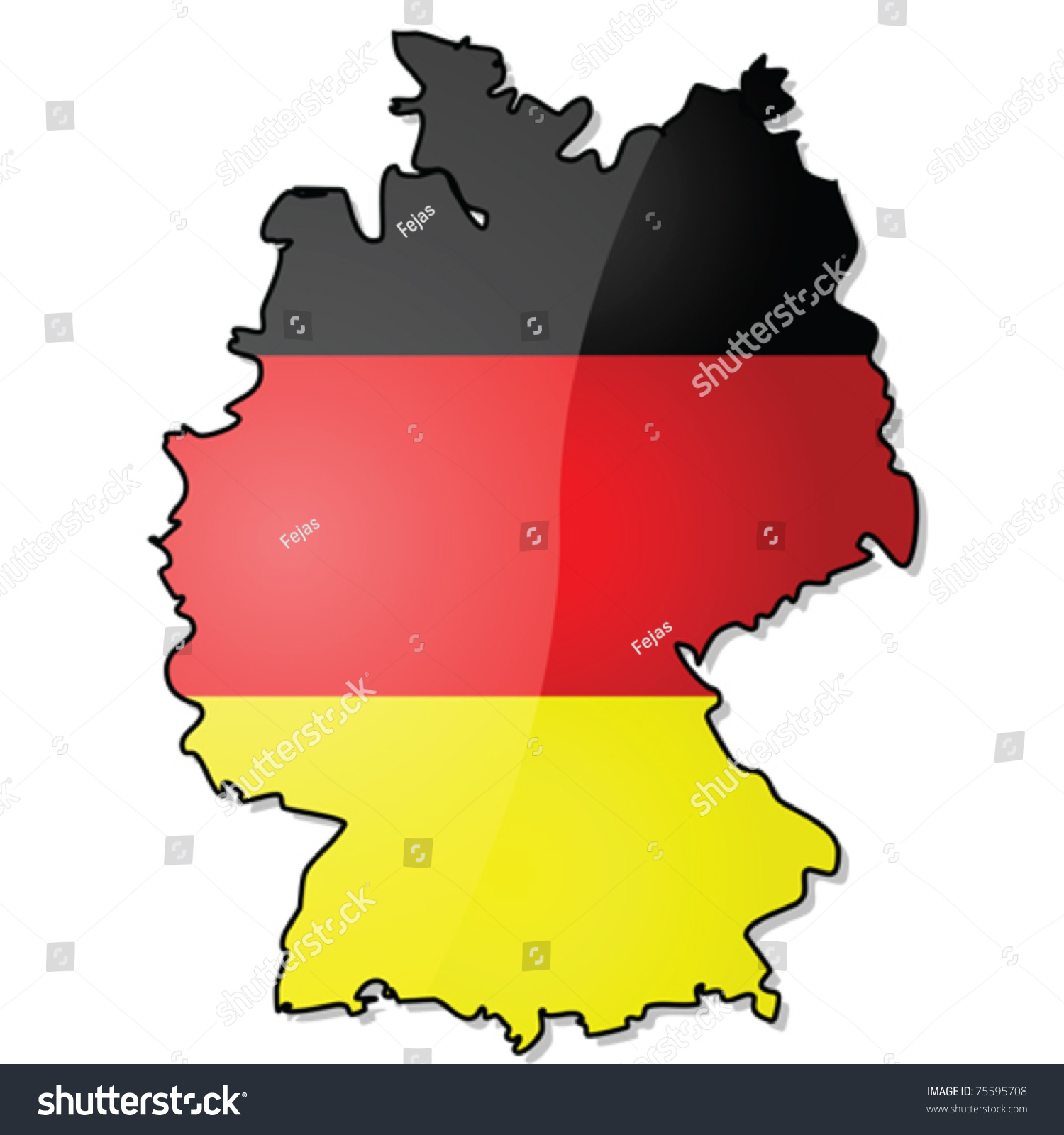 Glossy Vector Illustration Showing Map Germany Vector – Divided Germany Map