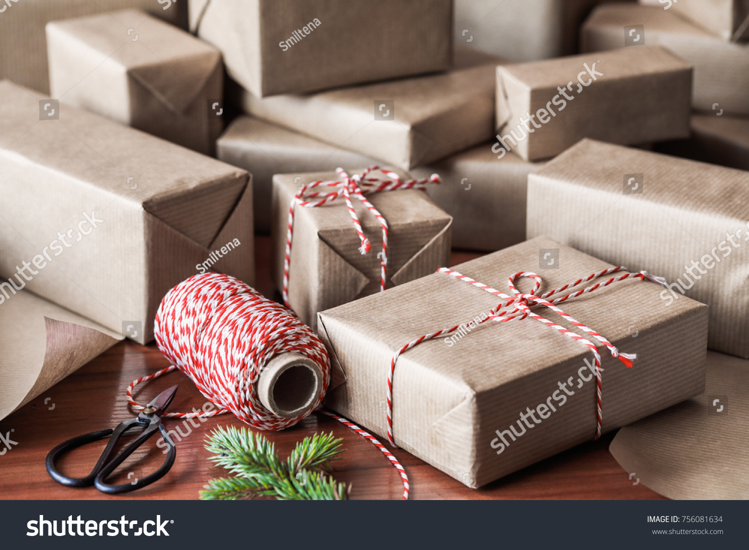 Wrapped Christmas Gifts Friends Family Stock Photo (Edit Now ...