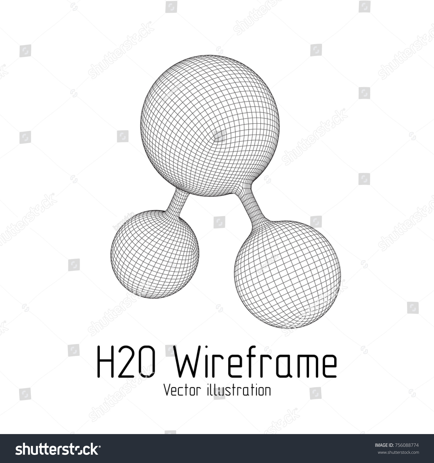 Wireframe mesh h2o water molecule connection stock vector wireframe mesh h2o water molecule connection structure low poly vector illustration science and pooptronica Choice Image