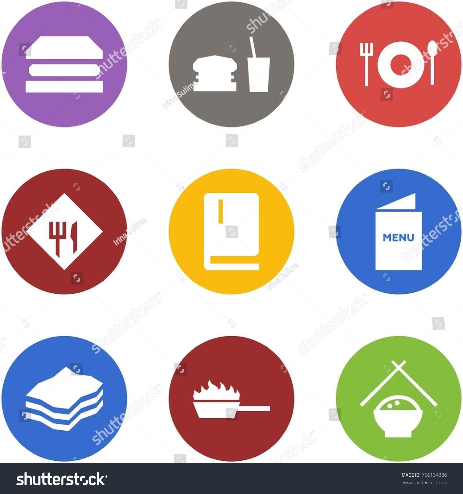 Origami corner style icon set sandwich stock vector 756134386 origami corner style icon set sandwich dinner cafe sign menu jeuxipadfo Gallery