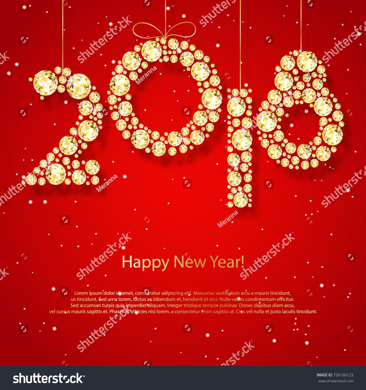 2018 Happy New Year Holiday Greeting Stock Photo Photo Vector