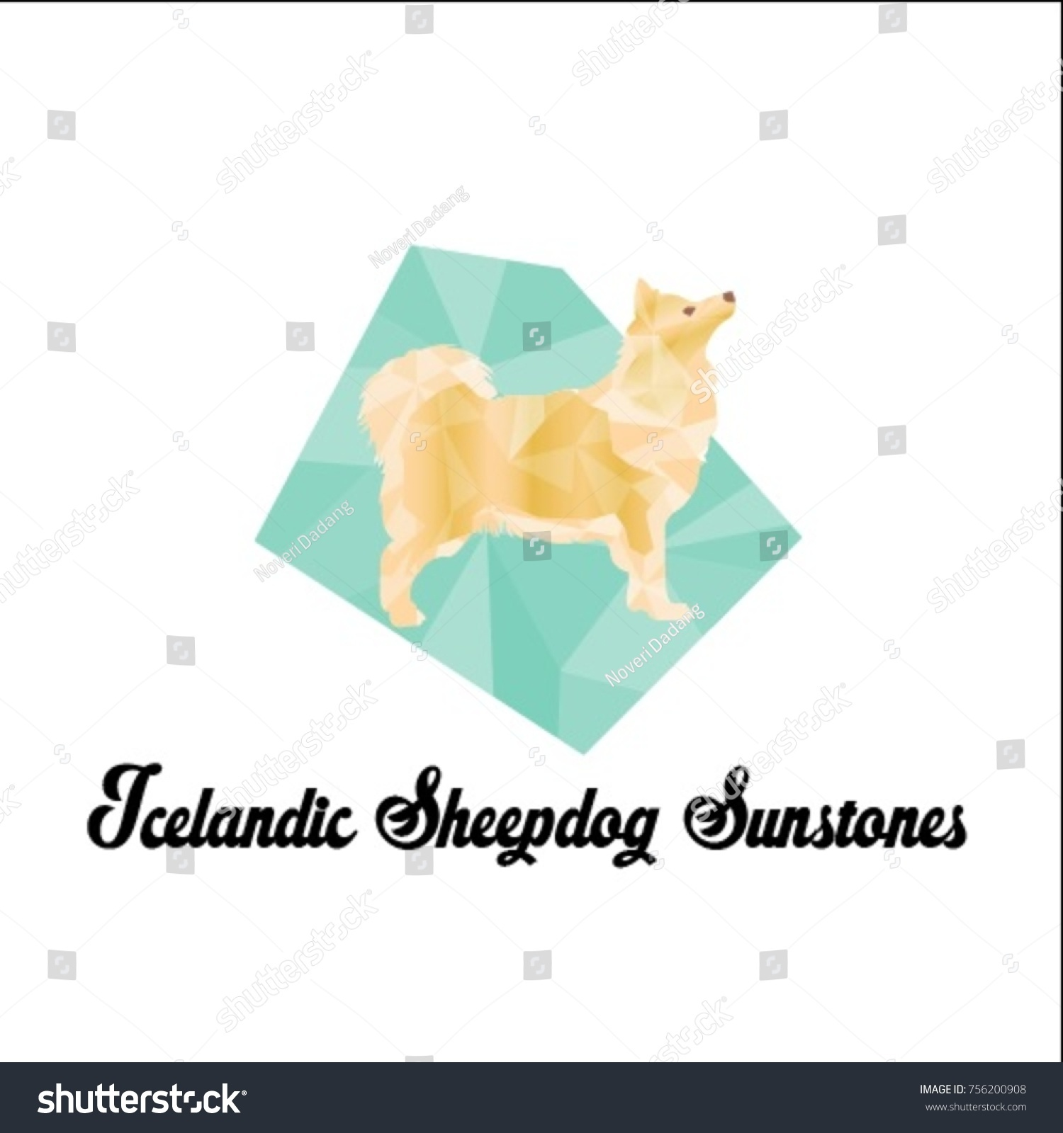 Icelandic Sheepdog Sunstones Stock Vector (Royalty Free) 756200908 ...