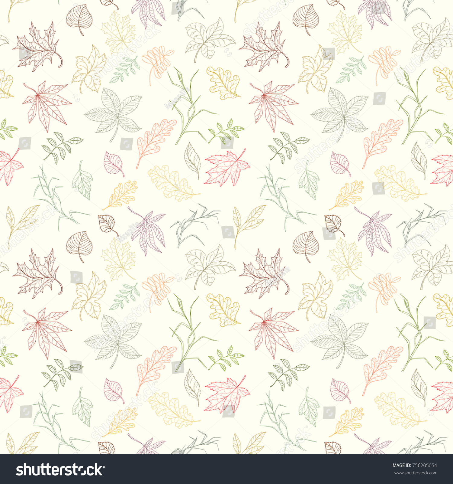 Assortment Autumn Seamless Pattern Wallpaper Website Stock Vector ... for Light Background Patterns For Websites  111bof
