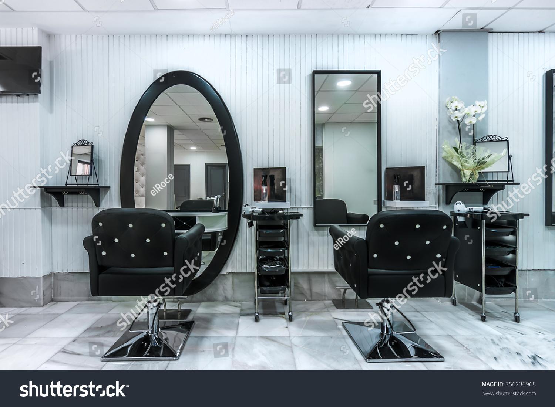 Modern Bright Beauty Salon Hair Salon Stockfoto (Jetzt bearbeiten ...