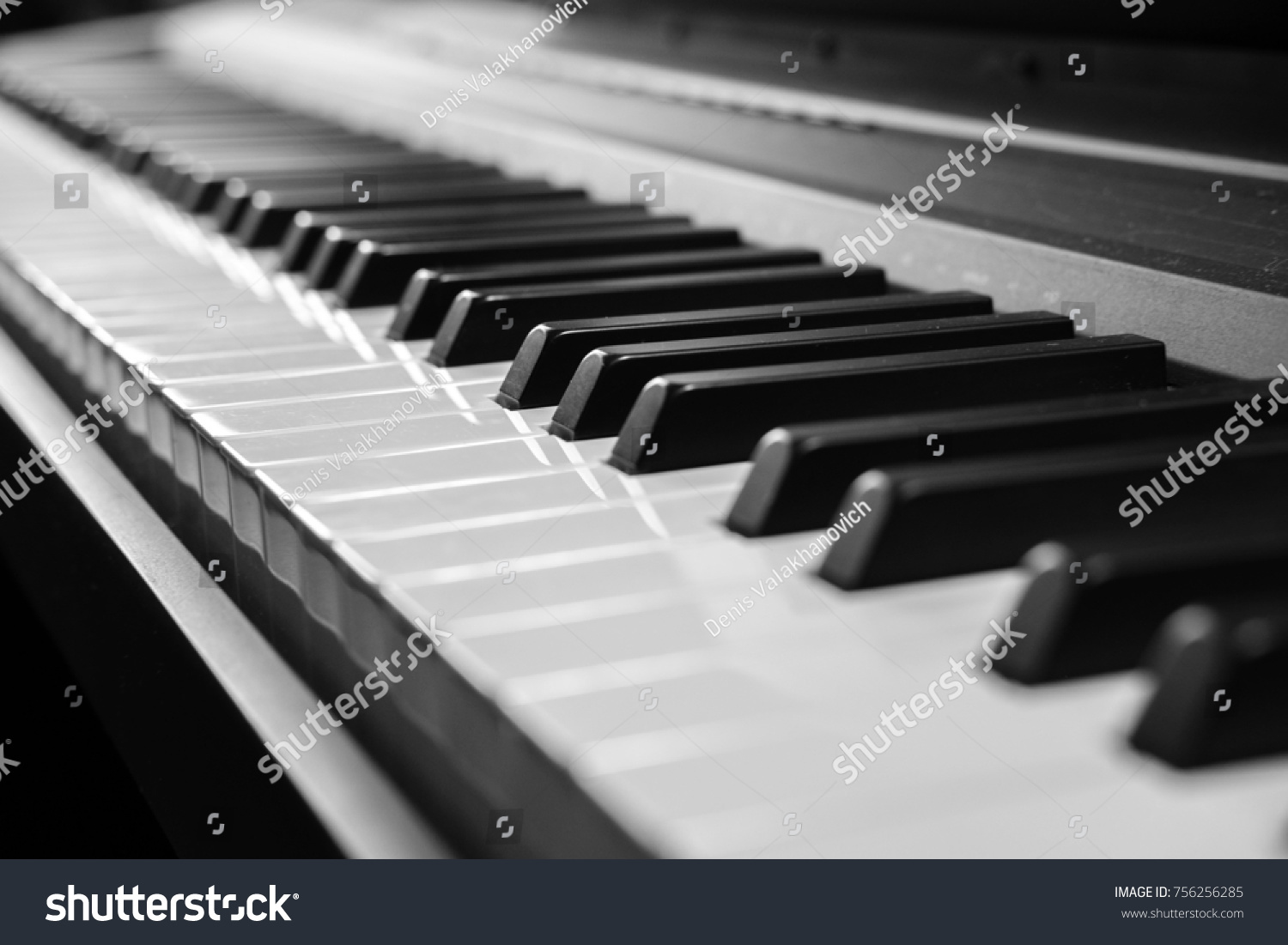 Piano keys piano keys black and white photo