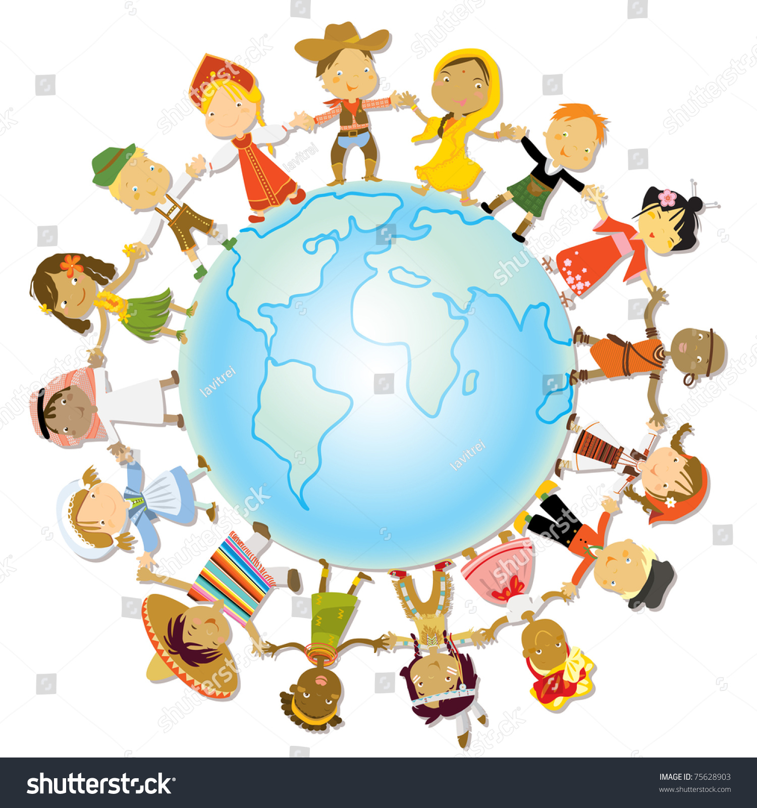 Multicultural Children On Planet Earth Cultural Stock ...