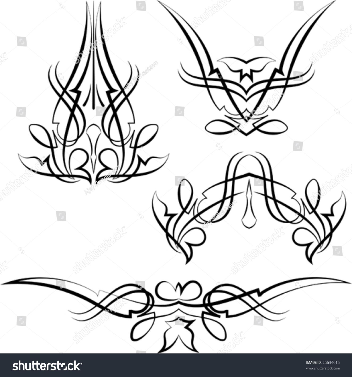 Pinstripe Design Stock Vector 75634615 - Shutterstock
