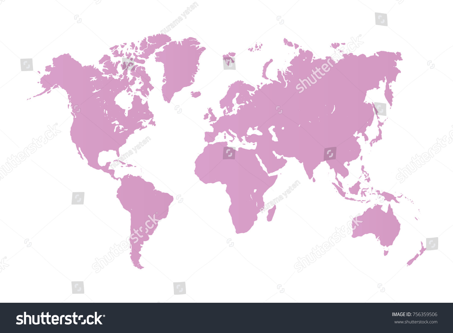 World map isolated on white background vectores en stock 756359506 world map isolated on white background best popular world map vector blank pink similar world gumiabroncs Gallery