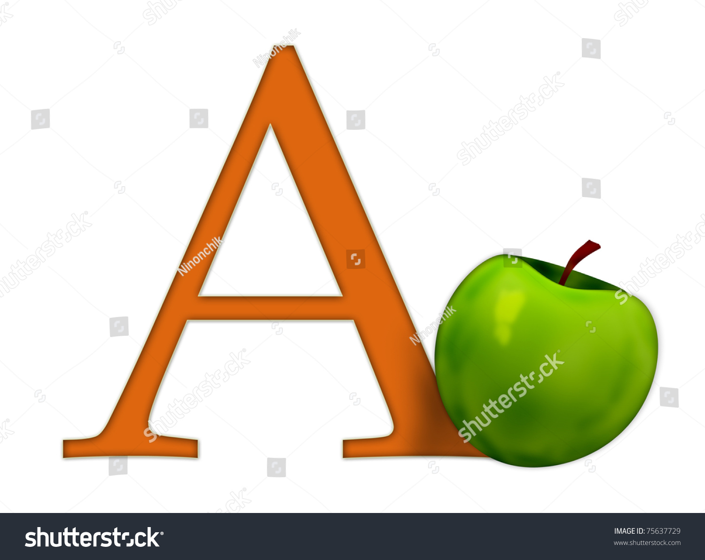 alphabet a apple stock illustration 75637729 shutterstock