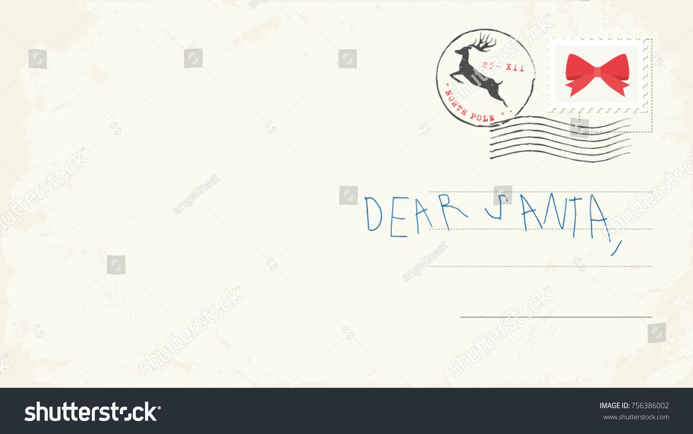 Handwritten letter santa child vector illustration stock vector handwritten letter to santa from child vector illustration spiritdancerdesigns Gallery