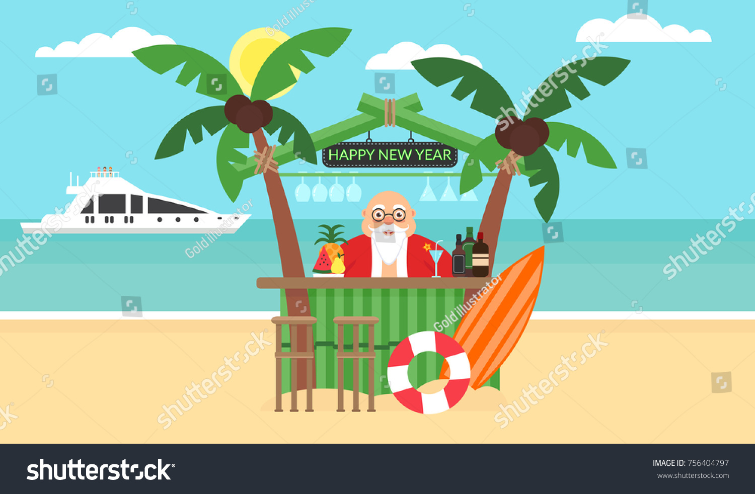 summer background sunny beach merry christmas and new year sea yacht - Merry Christmas Beach Images
