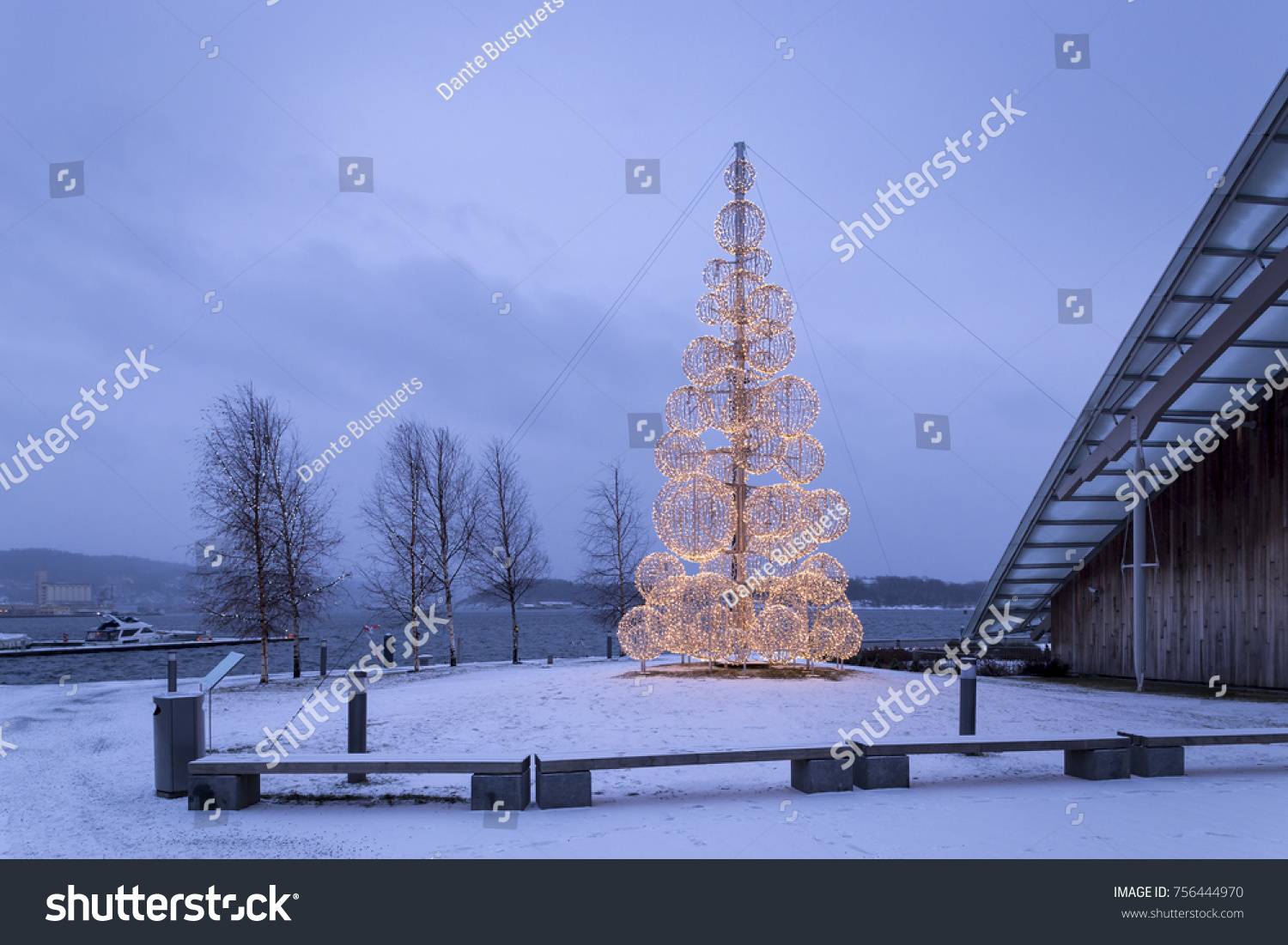Christmas Decorations City Oslo Norway On Stock Photo (Edit Now ...