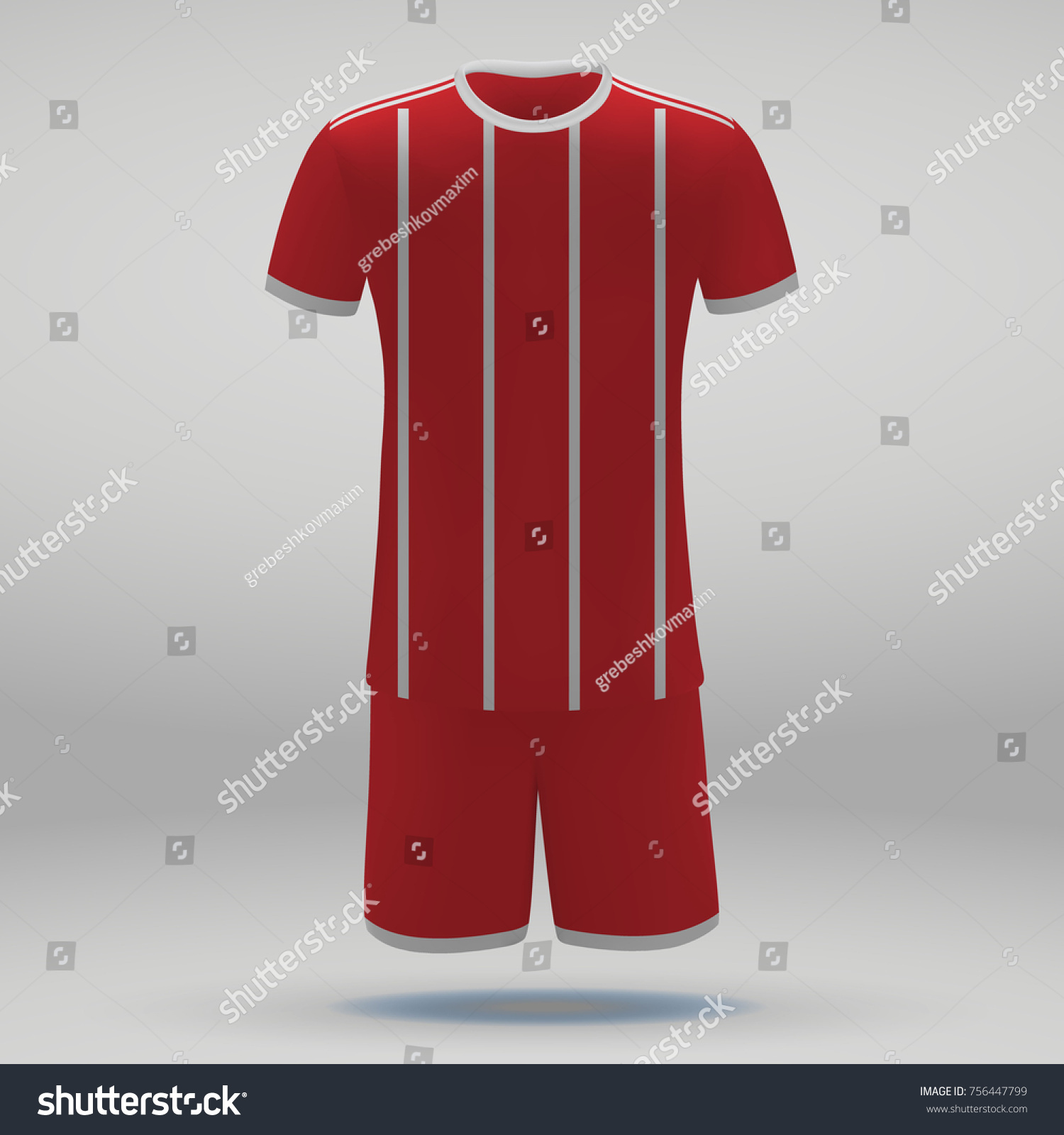 Football Kit Bayern Munich Tshirt Template Stock Vector 756447799 ...