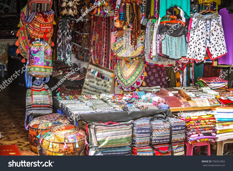 Palolem Goa India 10282017 Colorful Handicraft Stock Photo Edit Now