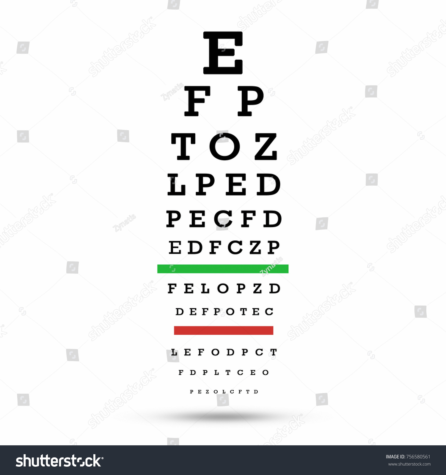 Eye Test Chart The Testing Board With Clipping Path Ez Canvas