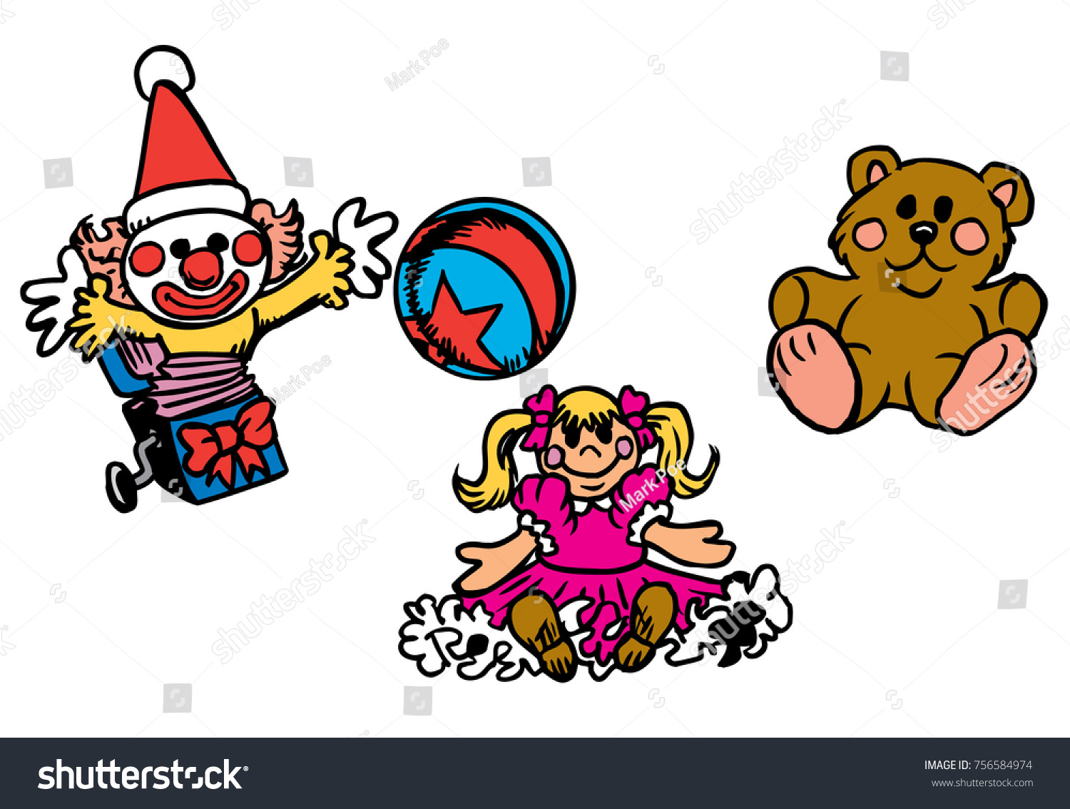 christmas toys a jack in the box doll teddy bear and colorful ball - Jack In The Box Open On Christmas
