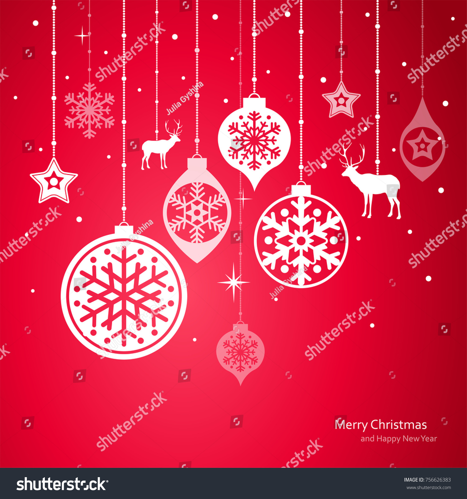 christmas decorations vector set of snowflakes new year background