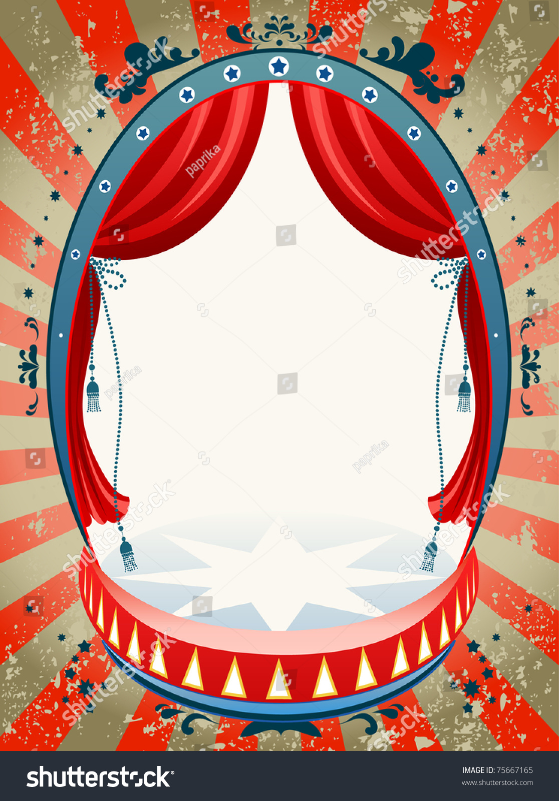 Vintage Circus Background Space Text Stock Vector 75667165