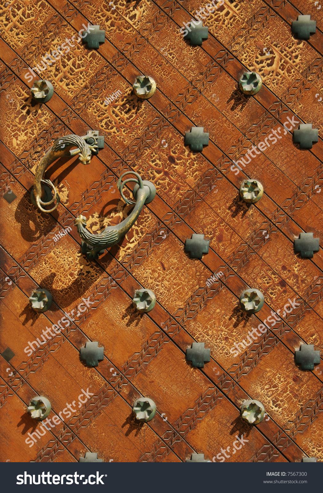 Gothic door of the church in prague stock photo 7567300 for Door z prague