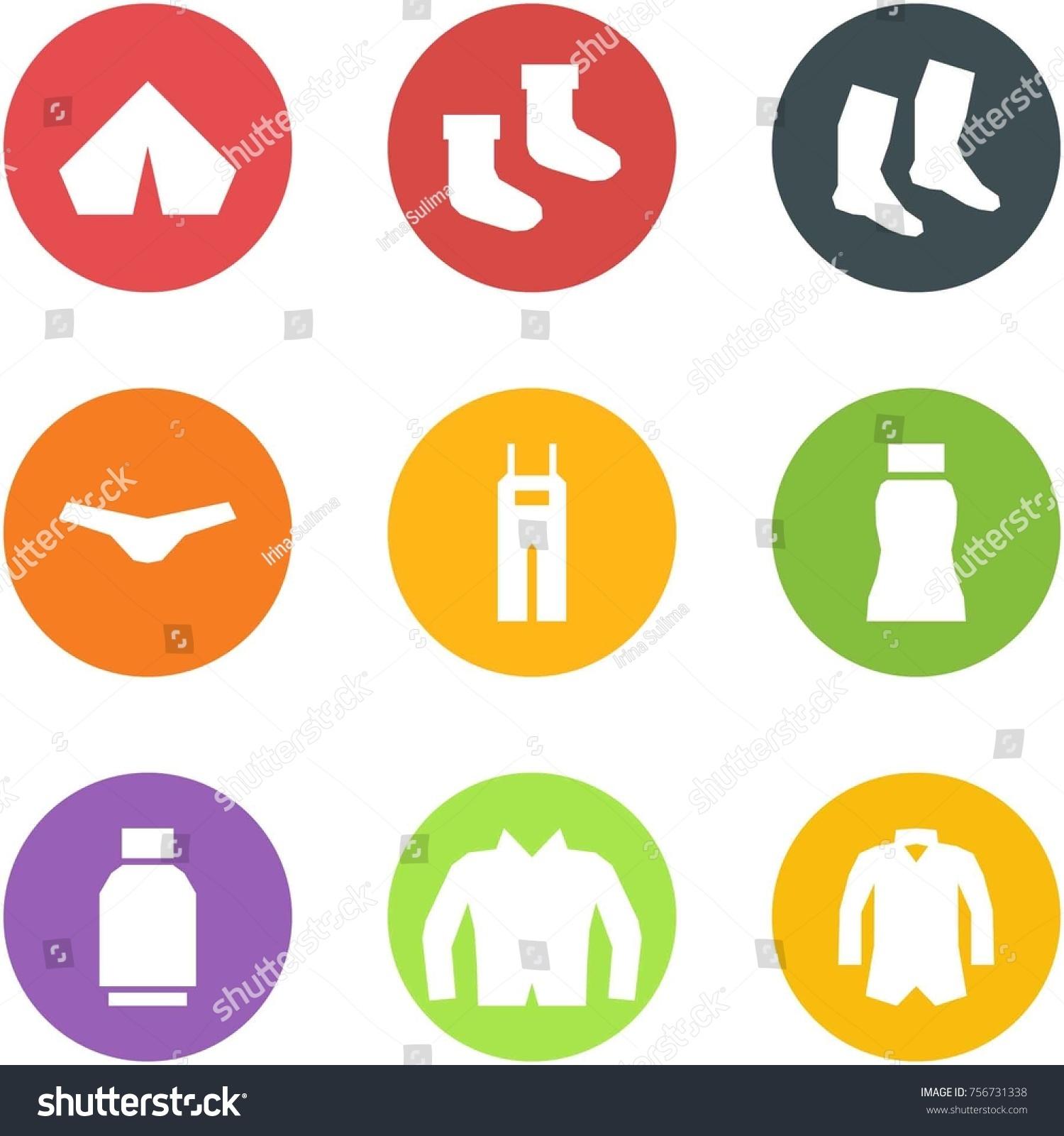 Origami corner style icon set - tent socks  underpants overalls skirt  sc 1 st  Shutterstock & Origami Corner Style Icon Set Tent Stock Vector 756731338 ...