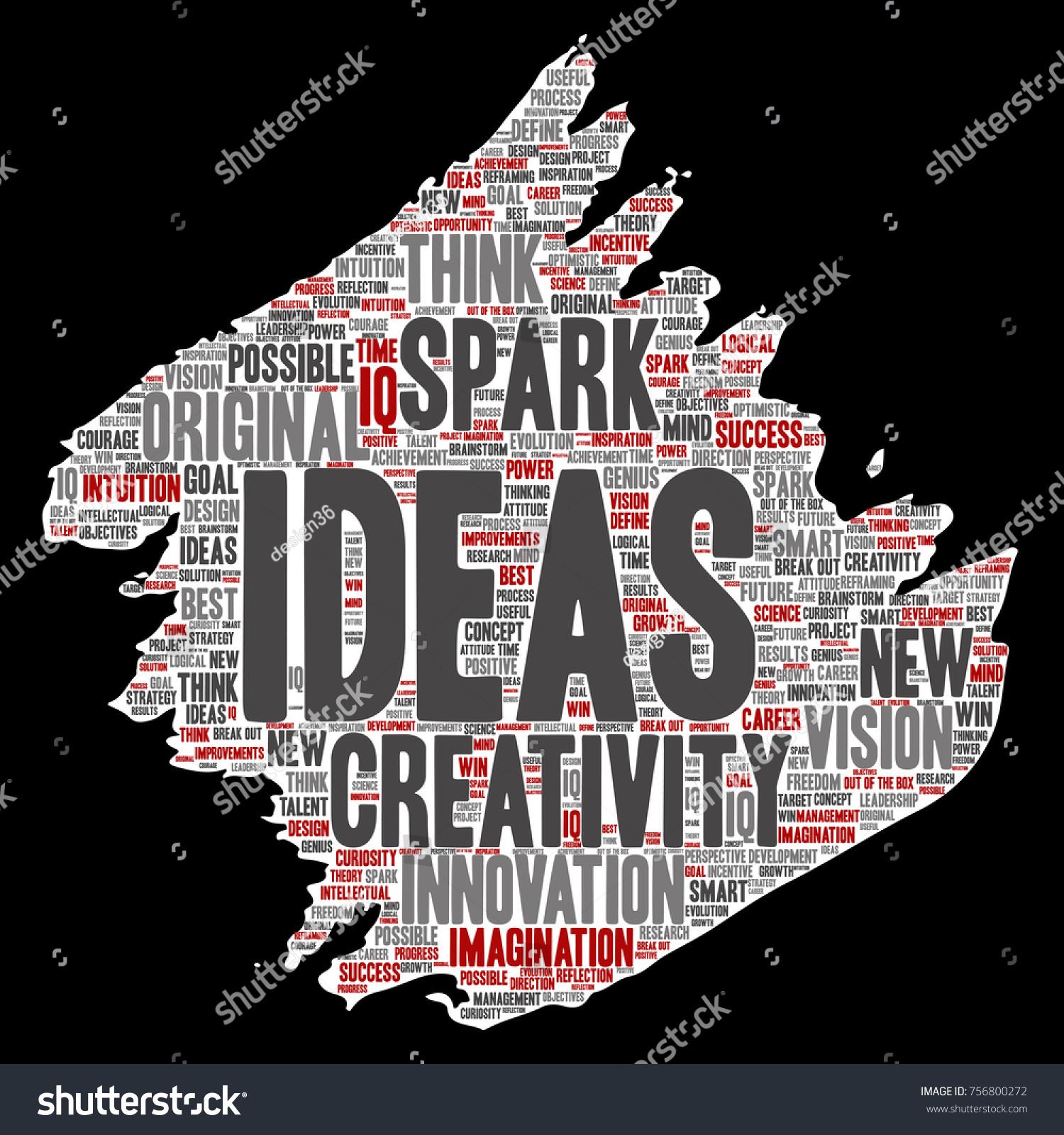 Vector Concept Conceptual Creative Idea Brainstorming Stock Vector