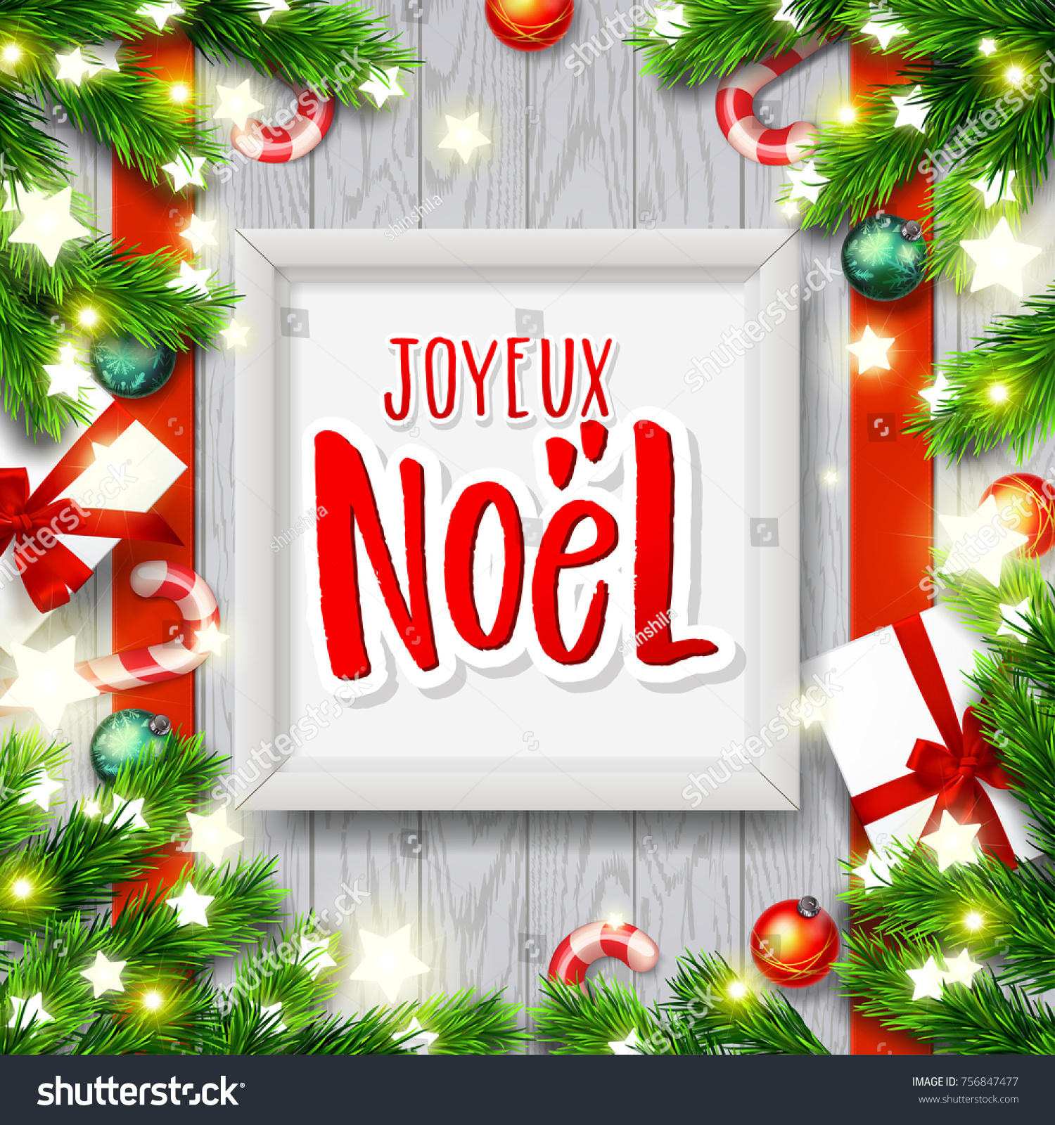 Merry christmas greeting card greetings french stock vector merry christmas greeting card greetings french stock vector 756847477 shutterstock m4hsunfo