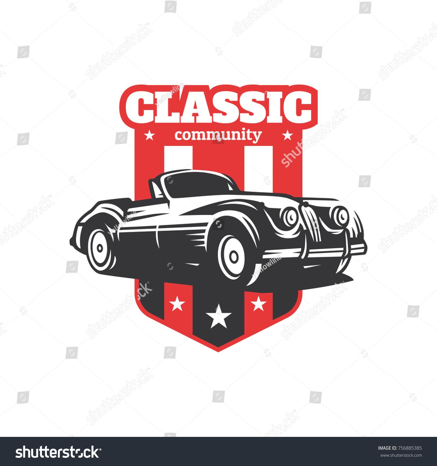 Classic Car Illustration Classic Car Logo Stock Vector 756885385 ...