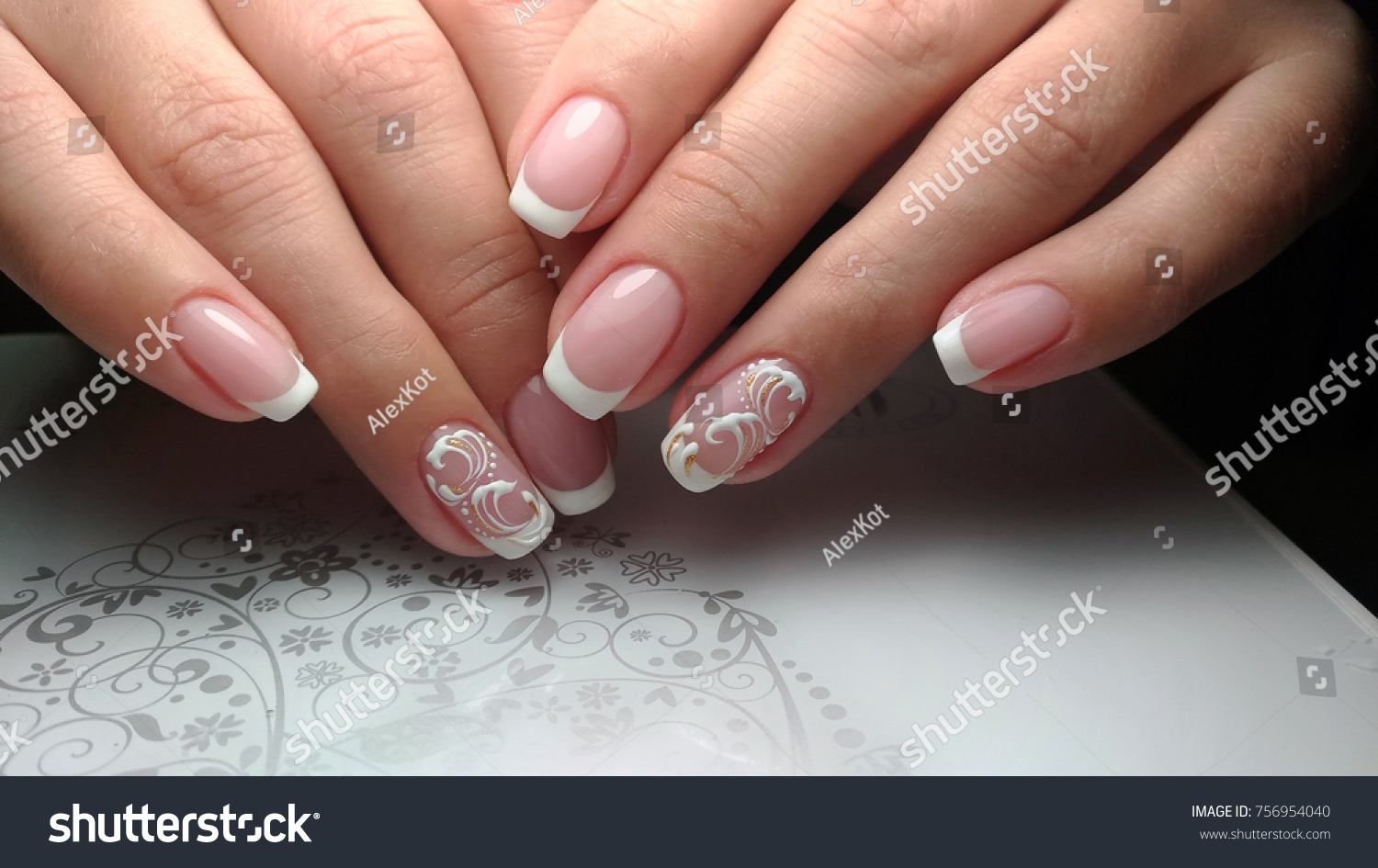 French Nail Design Stock Photo (Royalty Free) 756954040 - Shutterstock