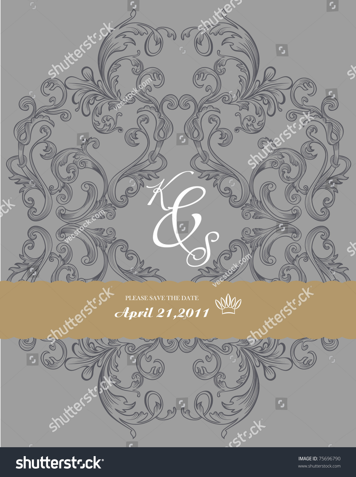 Book Cover Design Elements : Antique paper with ornate elements on dark gray background
