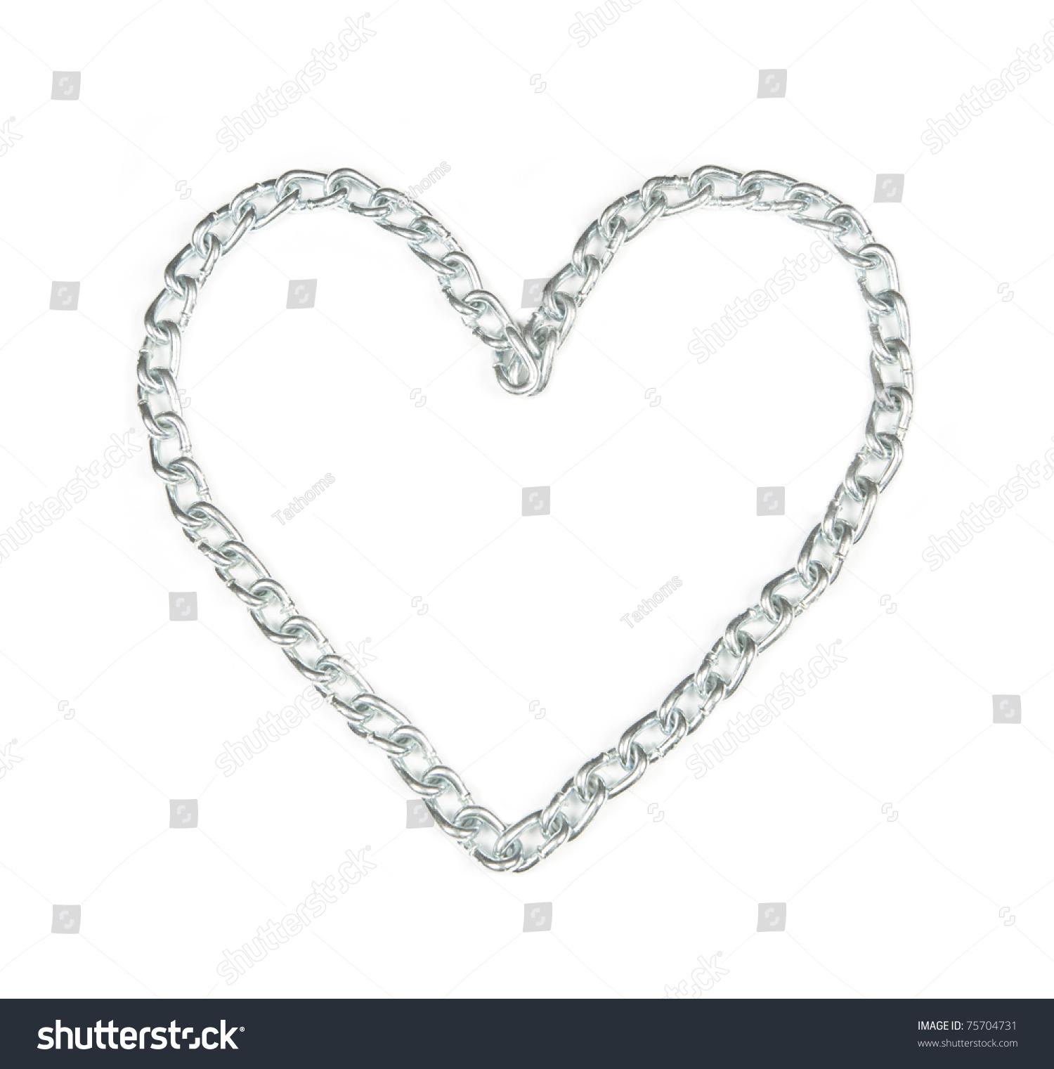 Metal chain heart