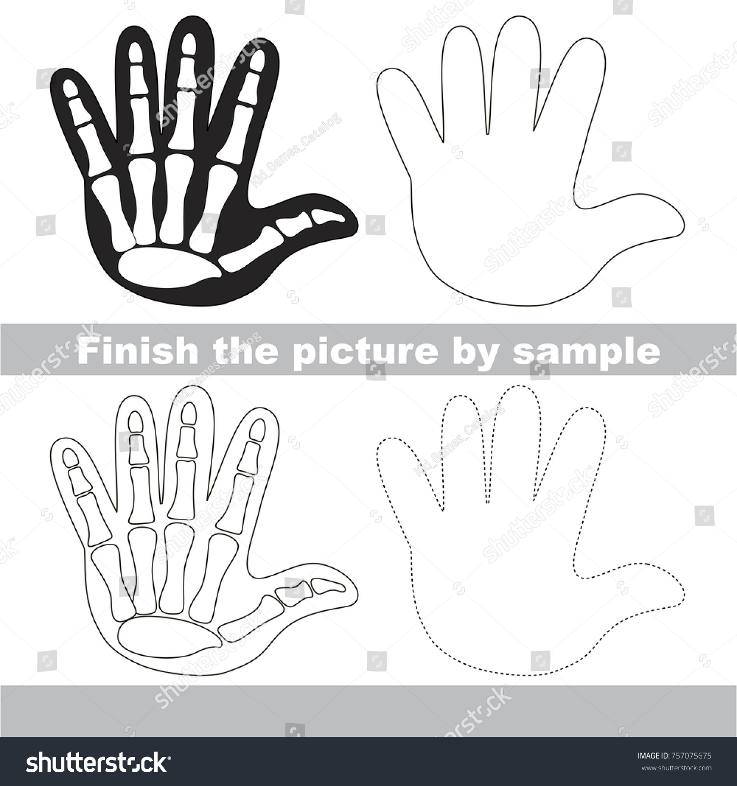Drawing Worksheet Preschool Kids Easy Gaming Stock Vector Royalty Free 757075675