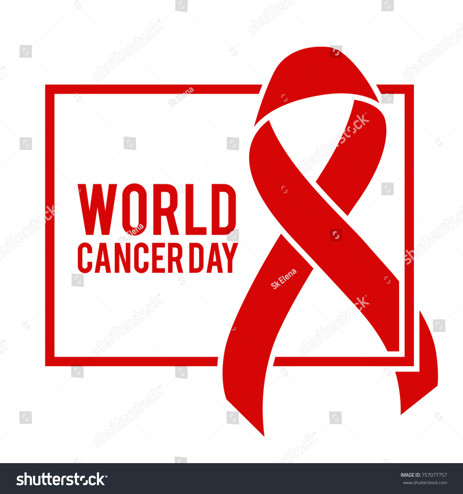 Red Ribbon Symbol Aids Day Awareness Stock Illustration 757077757