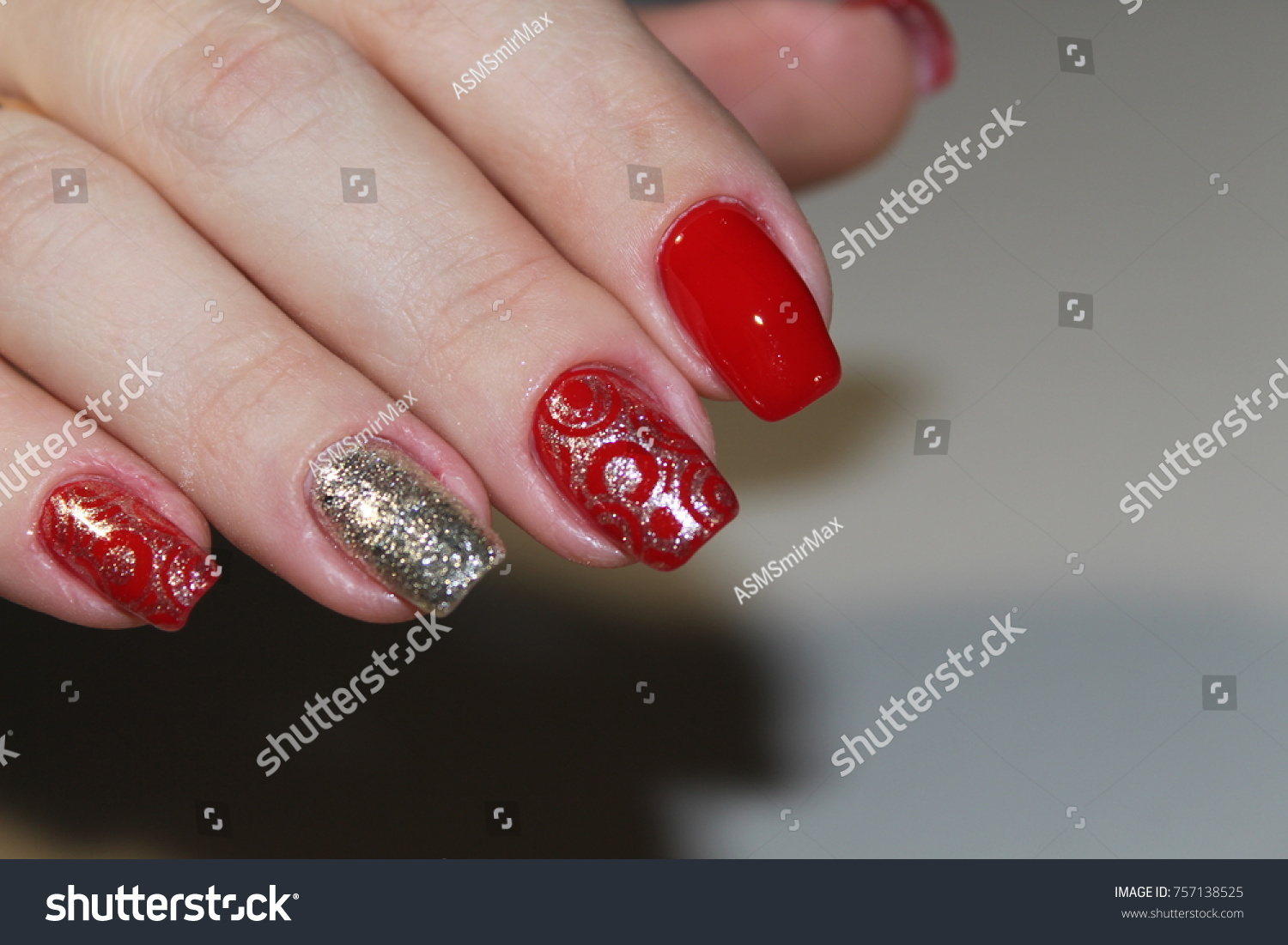 Fashion Nails Design Manicure Best 2017 Stock Photo (Download Now ...
