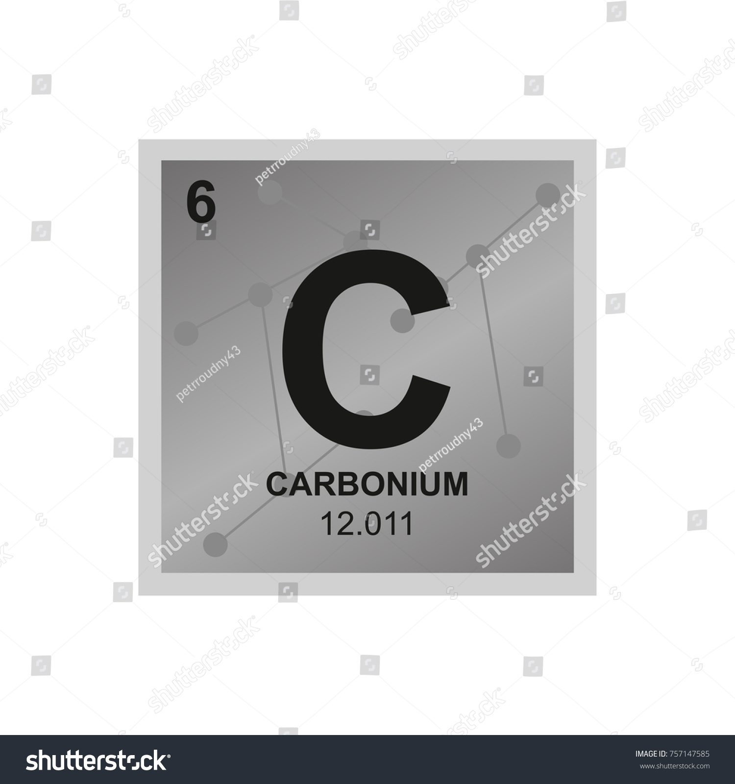 Vector symbol carbon periodic table elements stock vector vector symbol of carbon from the periodic table of the elements on the background from connected gamestrikefo Gallery
