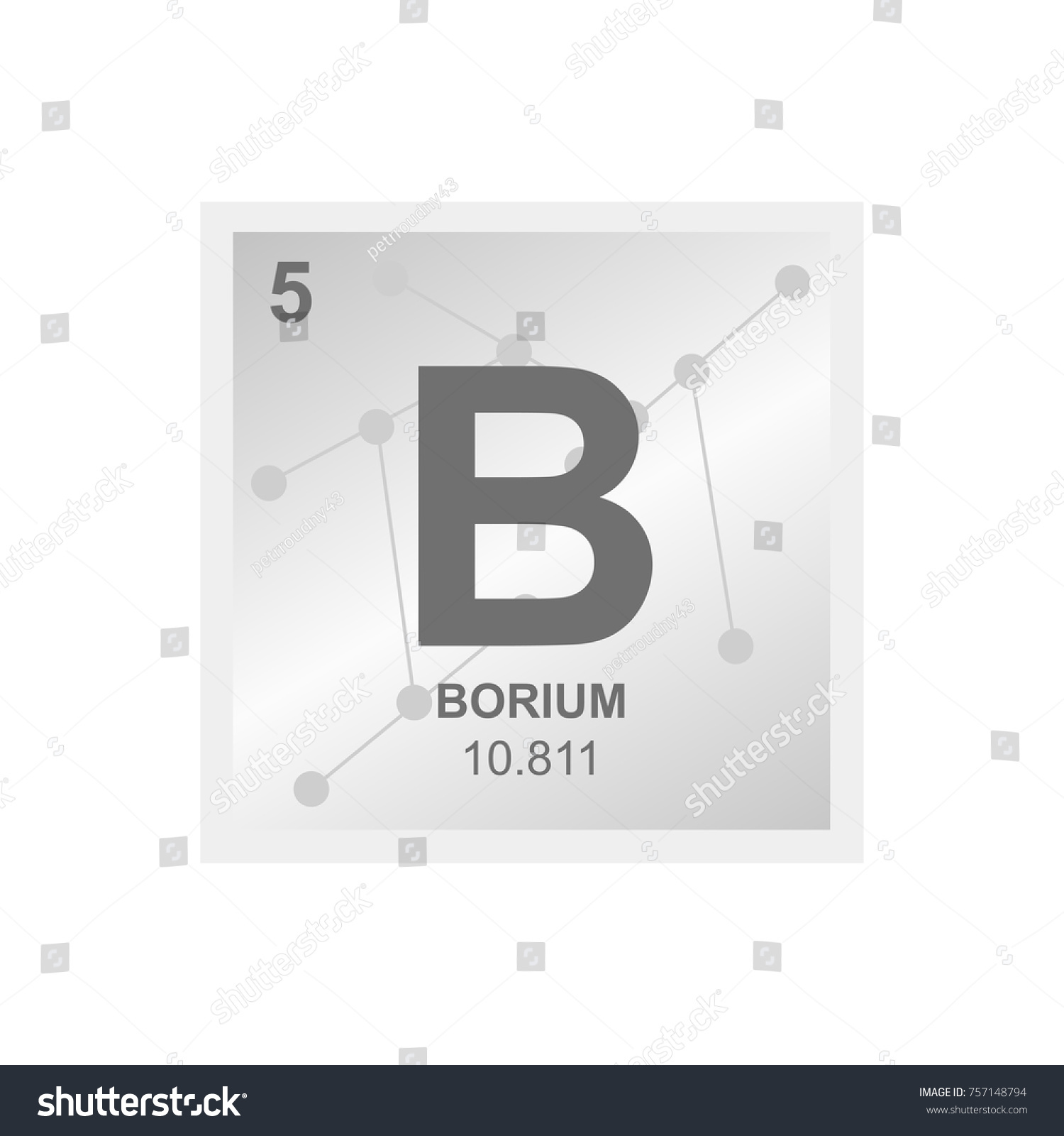 Vector symbol boron periodic table elements stock vector 757148794 vector symbol of boron from the periodic table of the elements on the background from connected gamestrikefo Image collections