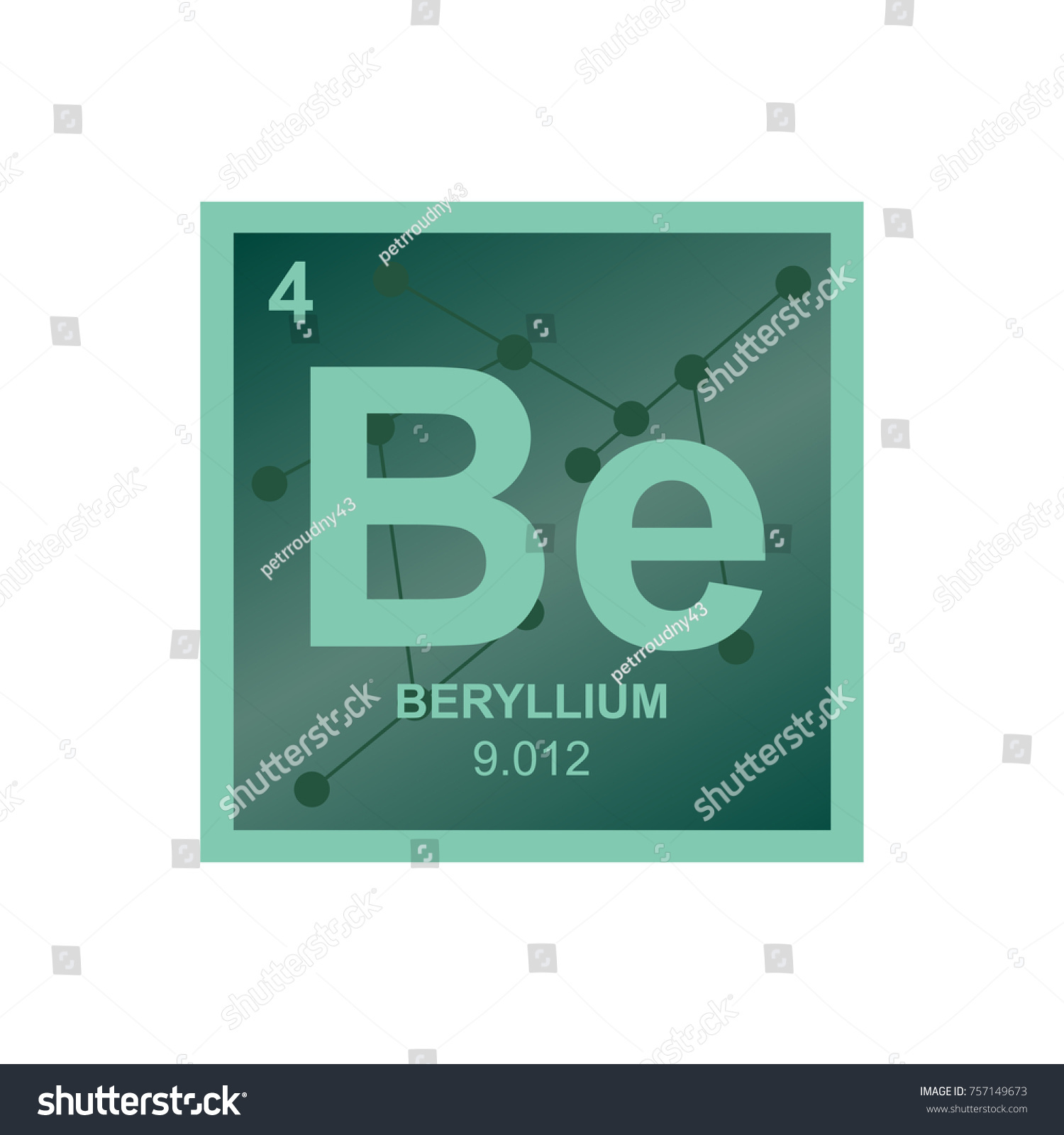Vector symbol beryllium periodic table elements stock vector vector symbol of beryllium from the periodic table of the elements on the background from connected gamestrikefo Image collections