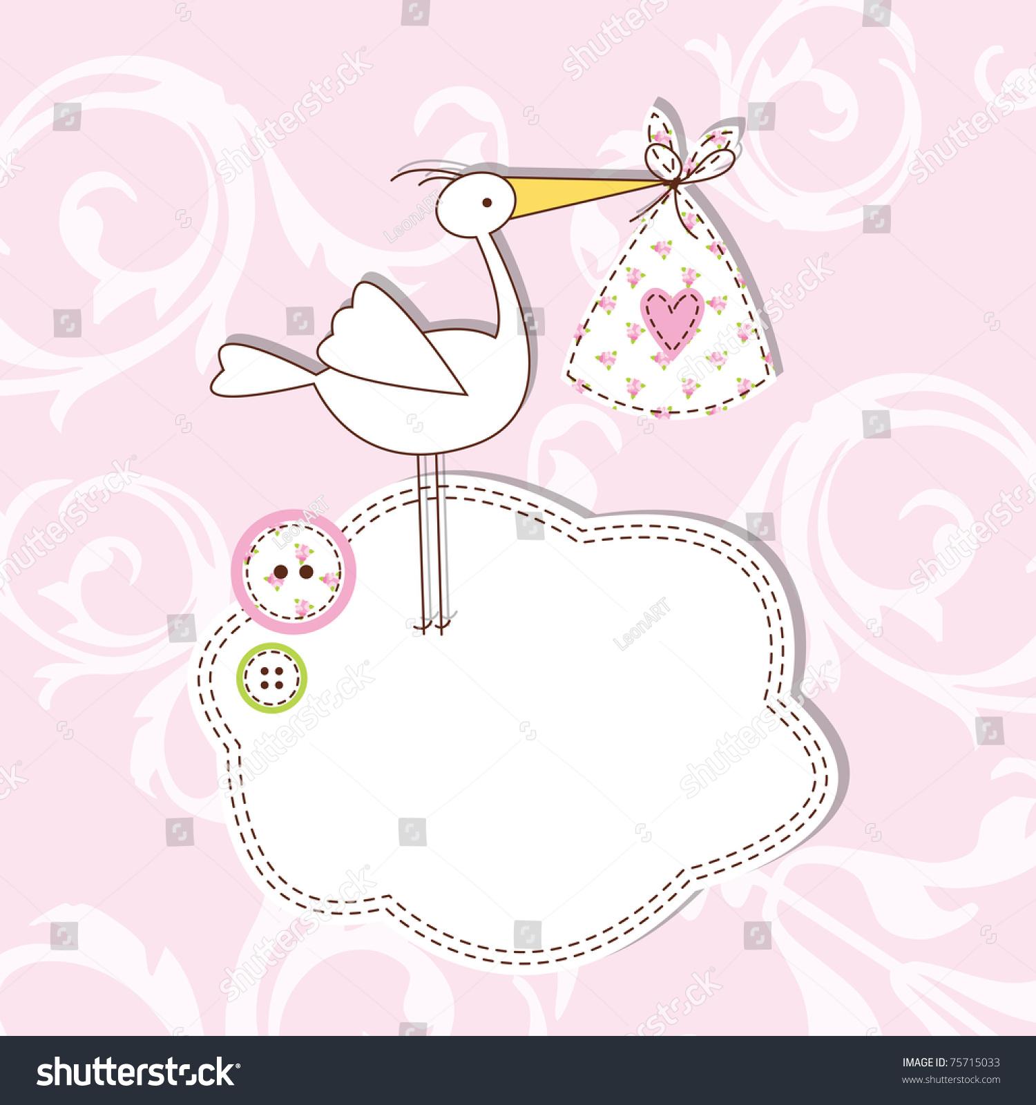 Baby Announcement Card birthday Card Cute Design – Baby Announcement Card Templates