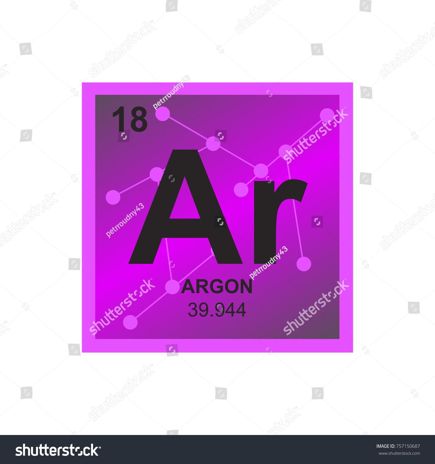 Vector symbol argon periodic table elements stock vector 757150687 vector symbol of argon from the periodic table of the elements on the background from connected gamestrikefo Choice Image