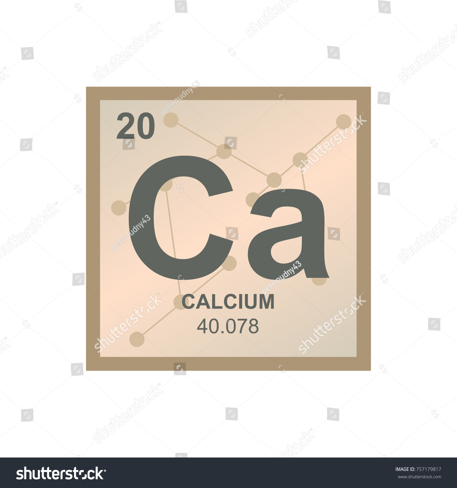 Vector symbol calcium periodic table elements stock vector vector symbol of calcium from the periodic table of the elements on the background from connected buycottarizona Choice Image